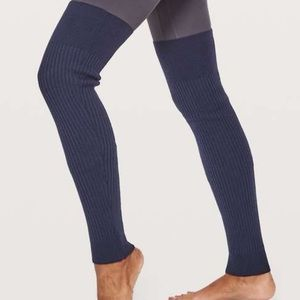 Lululemon midnight navy merino wool leg warmers